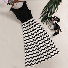 Mother Daughter Stripe Sleeveless Dress