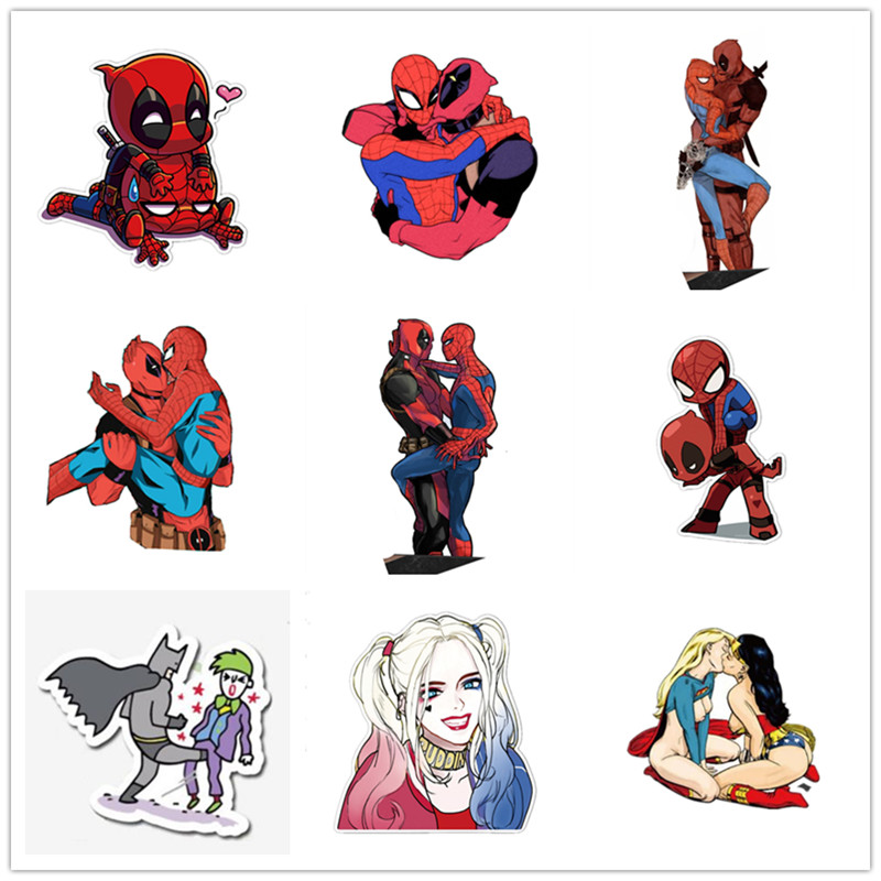 Acrylic Wonder Woman Love Superman Deadpool Spiderman Brooch Hulk Batman Patch Badge Brooche
