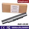KingSener 15V 84WH Laptop battery for ASUS UL30 UL30A U30JC UL50 UL80 U30 U35 U45 UL30A UL80A Series A41-UL50 A41-UL80 A42-UL30