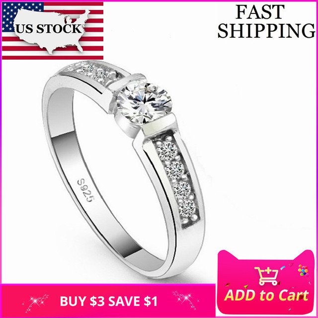 US STOCK Uloveido 5% Off Engagement Ring Female Cubic Zirconia Jewelry Rings for Women Vintage Aneis Femininos Jewellery J292
