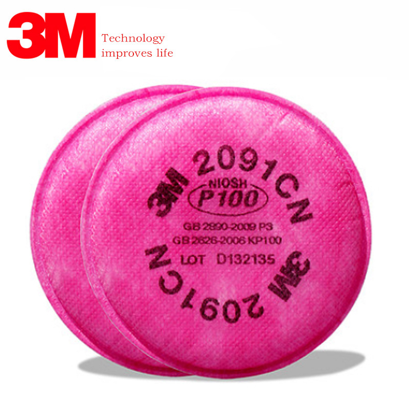 Lots Of Painting Spray Industry 3M 2091 Particulate Filter P100 For 3M 6800 7502 6200 Series Respirator Dust Mask