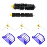3pcs Corner Cleaning Robots Replacement Brush 3pcs Cleaner Filter One Rolling Brush Set For Roomba 620