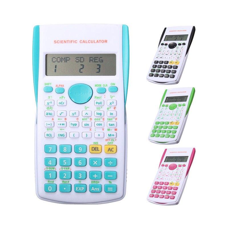 12 цифровой научный калькулятор 2 линии школьников Функция калькулятор Дисплей multi Функция al Счетчик Расчет машина