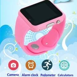 Детские умные часы W88 с Шагомер камера для Android Bluetooth силикон часы лучшие подарки для детей Дети Smartwatch