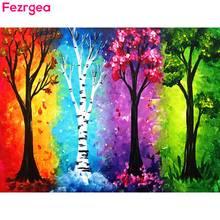Fezrgea Новые поступления алмазов картина сезона «дерево» Алмазная