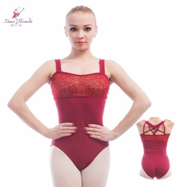 Wine red Ballet Leotards For Women tank sleeve Ballet Dancewear Adult Dance Practice Clothes Gymnastics Leotards
