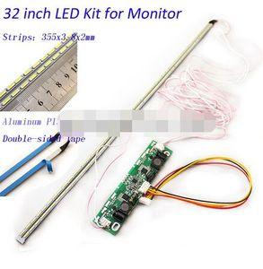 32-дюймовая светодиодная алюминиевая пластина, подсветка лампы, обновленный комплект для ЖК-монитора, ТВ-панели, 2 светодиодных полоски 355 мм,...