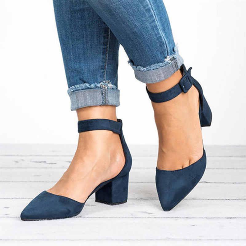 Vrouwen Sandalen 2019 Mode Lage Hakken Sandalen Voor de Zomer Schoenen Vrouw Casual Blok Hak Zapatos Mujer Plus Size 43 Sandale femme