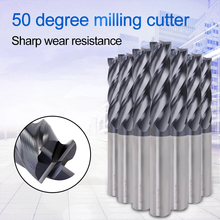Augusttools Milling Tools Mill Cutting HRC50 4 Flute Alloy Carbide Milling Cutter End Mill Metal Cutter Cnc Tools 1mm 2mm 3mm 4 blade inch milling cutter carbide end mill router bit hss 1 16 1 4 inch milling tools set cnc mill tools 6pcs