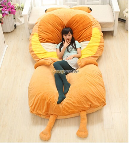 Fancytrader 220cm X 150cm Huge Giant Cute Garfield Bed Carpet Sofa Tatami, Great Gift! Free Shipping FT90351 for yamaha mt 03 2015 2016 mt 25 2015 2016 mobile phone navigation bracket