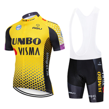 2019 JOMNO cycling TEAM jersey 20D bike shorts suit Ropa Ciclismo mens summer quick dry PRO bicycle Maillot Pants clothing