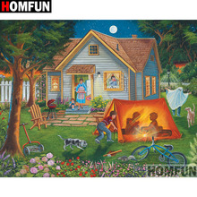 HOMFUN Full Square/Round Drill 5D DIY Diamond Painting House landscape Embroidery Cross Stitch 5D Home Decor Gift A18107 homfun full square round drill 5d diy diamond painting house landscape embroidery cross stitch 5d home decor gift a18092