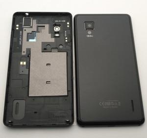 Image 1 - Esc novo caso da bateria porta capa traseira para lg optimus g e975 ls970 f180 e971 e973 com lente da câmera com botões laterais pretos caso