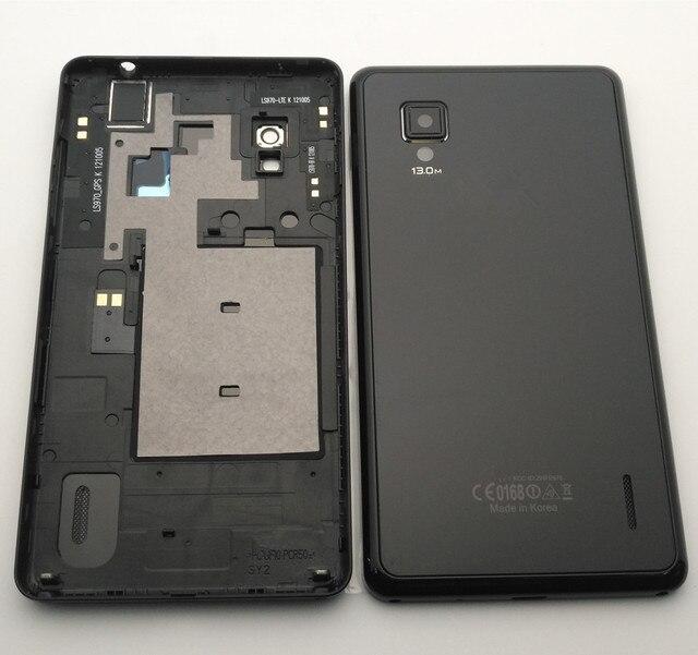 Esc novo caso da bateria porta capa traseira para lg optimus g e975 ls970 f180 e971 e973 com lente da câmera com botões laterais pretos caso
