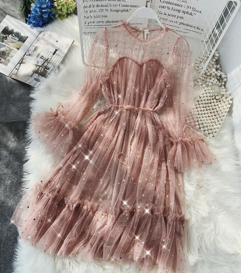 Gauze Two Piece Midi Dress 22