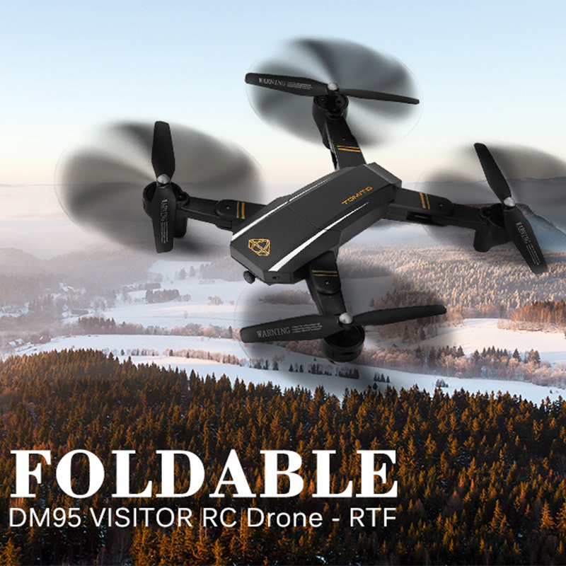 New DM95 Foldable RC Drone With Camera HD One Key Return Quadcopter Headless Mode Altitude Hold RC Helicopter With Camera 2MP jjrc h8d 2 4ghz rc drone headless mode one key return 5 8g fpv rc quadcopter with 2 0mp camera real time lcd screen s15853