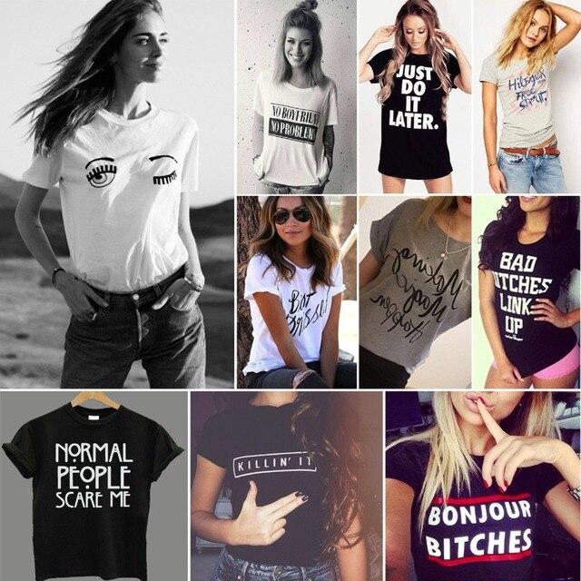 Harajuku Womens Hipster T Shirt Skateboard Swag Hip Hop Streetwear T,Shirt  Camisetas Mujer Cool