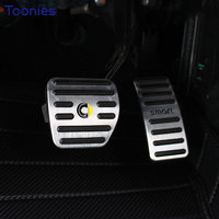 Smart 453 Forfour Fortwo Accelerator Pedal Anti Skid Aluminum Alloy 2Pcs Brake Pedal Plate Manual Pad
