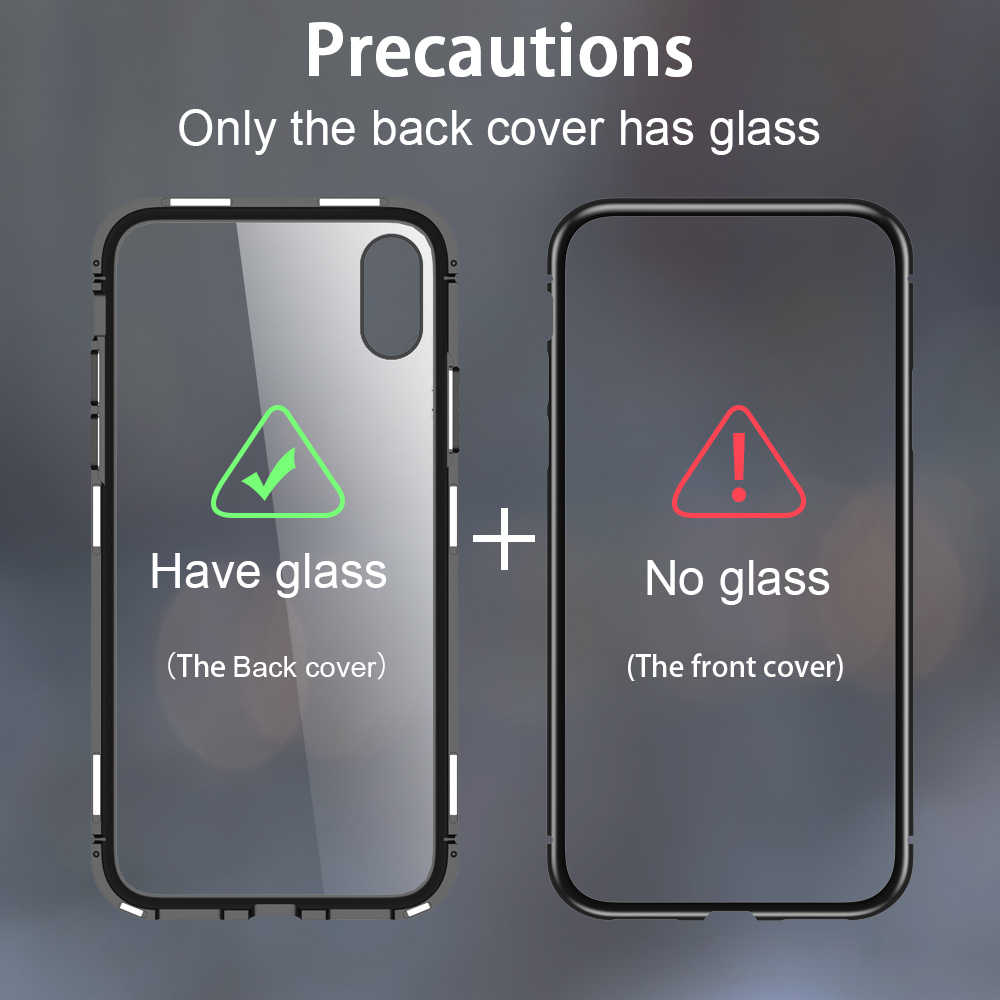 new arrival d1c8e dd585 Magnetic phone cover for samsung galaxy s9 s8 plus s7 edge s8plus s9plus  Clear Glass back case for sansung s7edge note 8 9 coque