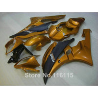 Injection molding Customize fairing kit for YAMAHA YZF R6 2006 2007 matte black golden ABS fairings set YZF R6 06 07 NB050