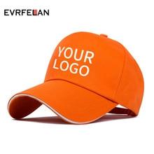 Evrfelan Custom Baseball Cap Free Logo Text Photo Print Embroidery Adult  Men Women Snapback Dad Hat a8e8f23db948