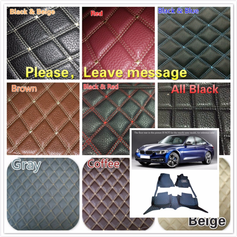 5 Seats Customs Car Floor Mat Leather Waterproof Front & Rear Floor Mats Carpets Pads for BMW 3 Series F30 2013 2014 2015 2016 customs 5 seats 1 set car floor mat leather waterproof front