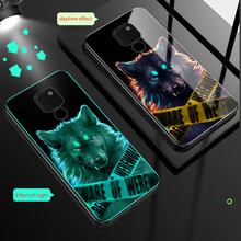 Luminous Glass Case For Huawei Mate 20 Lite Night light case pro back Cover  20X 20Lite
