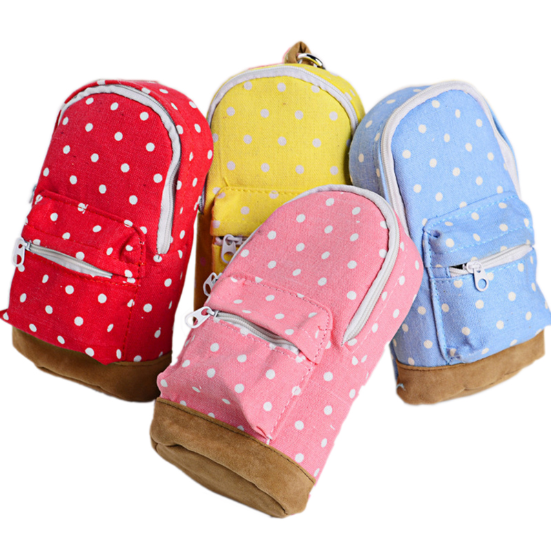 Large Capacity Kawaii Korea Stationery Pencil Case Dot Pattern Wallet School For Kids School Office Supplies Bag Attractive Appearance