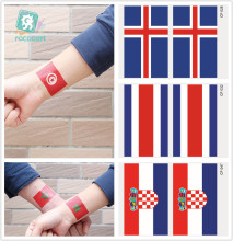 2018 Football Games Flag Tattoo Stickers Face Flag Tattoo Of Iceland, Costa Rica, Tunisia, Morocco Flag Tattoo Sticker flag football world cup body tattoo stickers