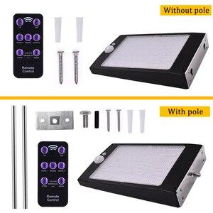 Image 5 - 태양 광 조명 원격 컨트롤러와 야외 48 LED 벽 태양 모션 센서 빛 벽에 대 한 무선 방수 보안 램프