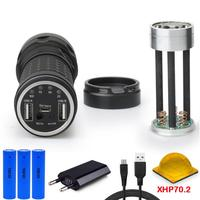 power bank XHP70 long range hunting flashlight usb most powerful flashlight CREE XHP70 charge18650 torch waterproof lampe torche