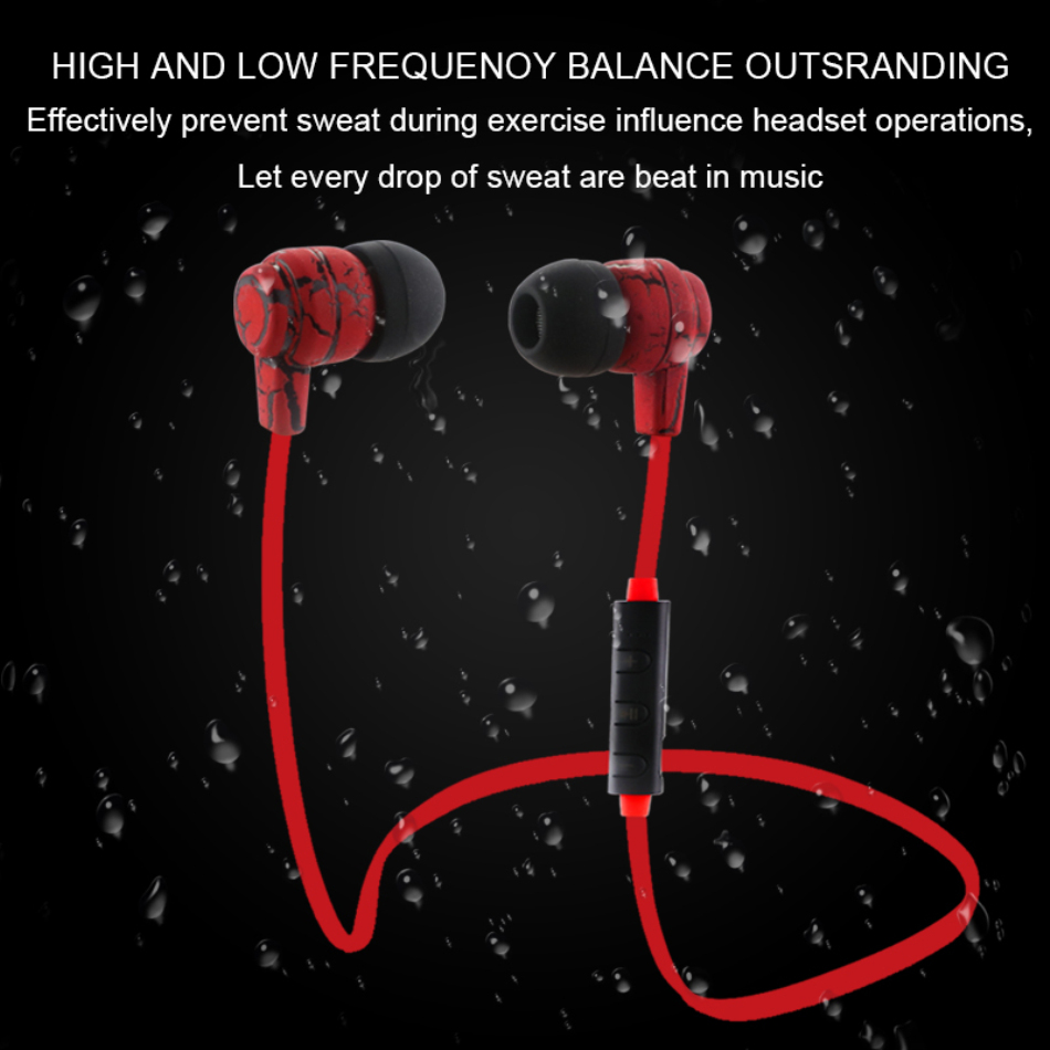 ANBES Bluetooth Earphones Sport Wireless Crack Headphone Stereo Super Bass Headset Earbuds Handsfree With Mic For iphone Samsung