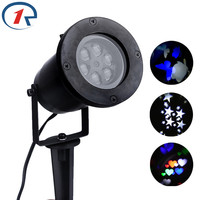 ZjRight NEW Laser RGBW Stage Lights Auto Rotating Love/Star disco lamp DJ led party christmas lights outdoor Garden fairy lights