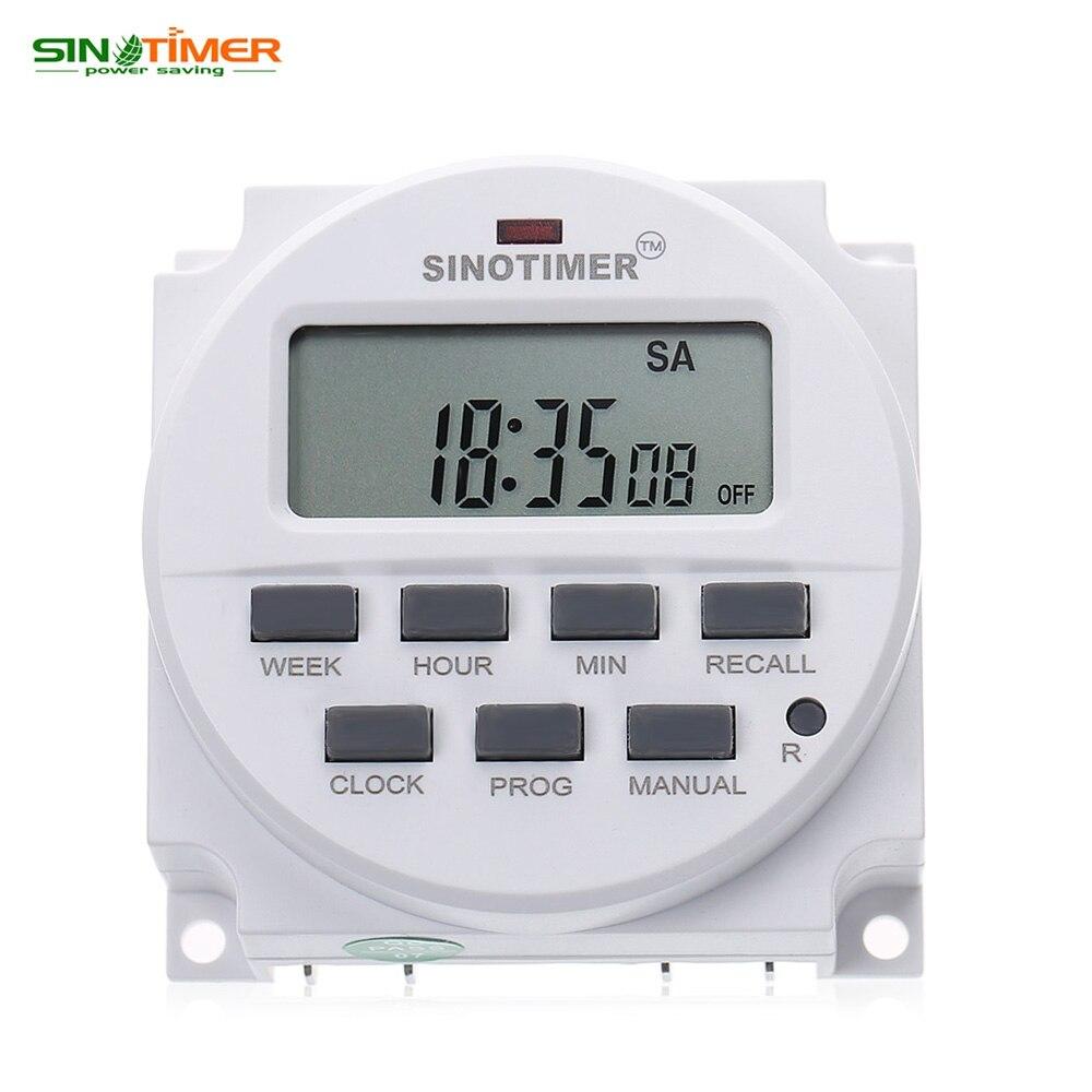 220V16A ЖК-дисплей цифровой многоцелевой программируемый Управление Мощность таймер высокое качество против вмешательства используется чип ...