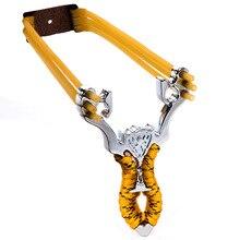Рогатка слинга катапульта съемки дорожные мощный сплав лук камуфляж алюминиевый наборы