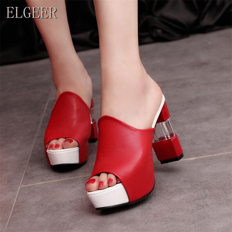 03 Las Alto 2018 Zapatos Casual Señoras 02 Tacón Nuevos Elgeer Con De Sandalias Mujer Coreano Grueso 01 Plataforma 4THdWq