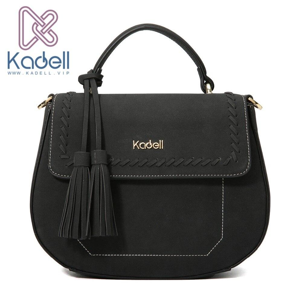 Kadell сумка Для женщин маленький Повседневное Дамы Сумка Crossbody сумки для Дамские туфли из pu искусственной кожи сумки известного бренда кисточ...