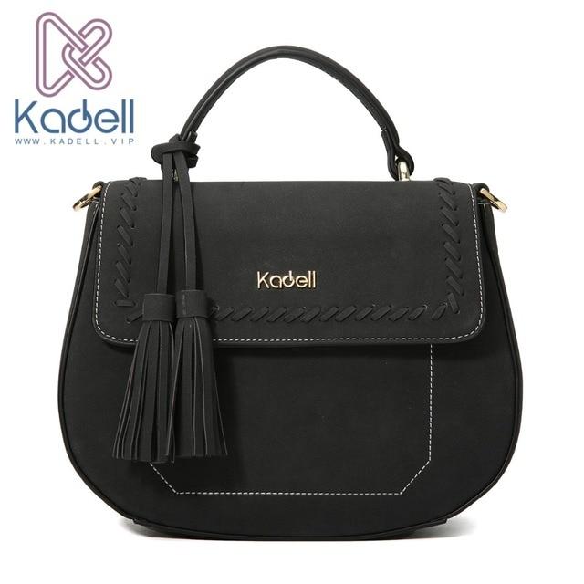Kadell сумка Для женщин маленький Повседневное Дамы Сумка Crossbody сумки для Дамские туфли из pu искусственной кожи сумки известного бренда кисточкой сумка
