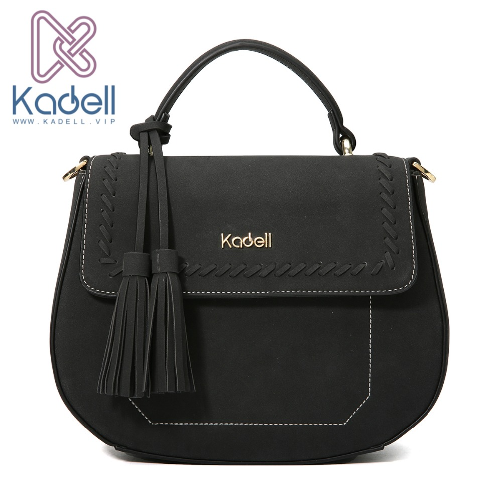 Kadell Shoulder Bag Women Small Casual Ladies Messenger Bag Crossbody Bags for Women PU Leather Handbag Famous Brand Tassel Bag casual rivets and tassel design crossbody bag for women href