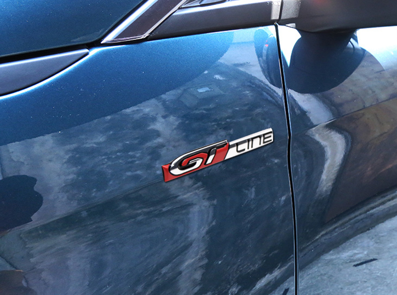 Red chrome effet diable badge autocollant pour PEUGEOT 208 308 3008 508 5008 GTI HDI