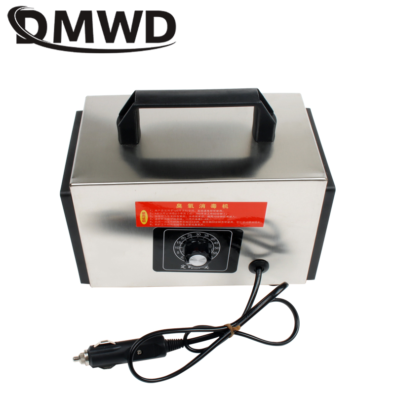 DMWD 12V 10g Car Ozone Generator Ionizer Auto Air Purifier Ozonizer Cleaner Deodorizer Sterilizing Machine 10000mg/h Sterilizer