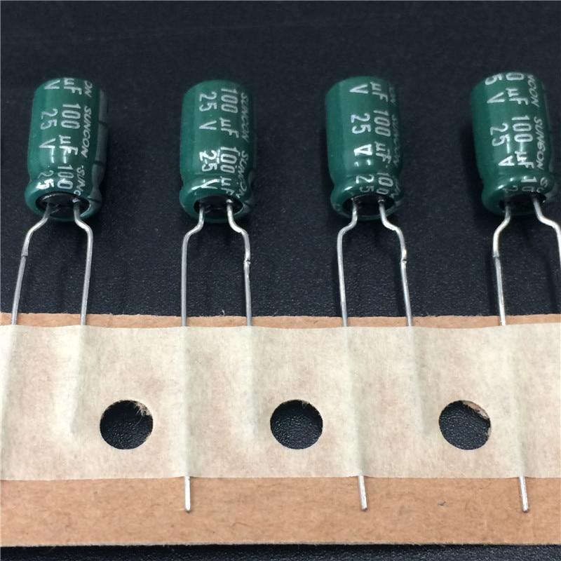 10pcs//100pcs 25V 470uF 25V Rubycon YXG 8x20mm High Ripple Long Life Capacitor