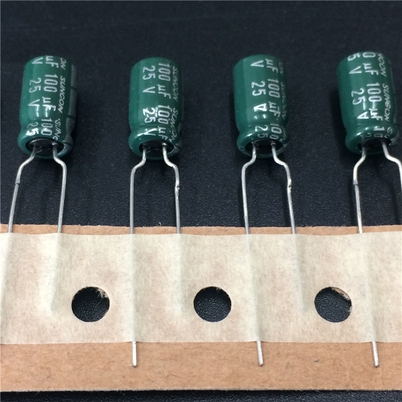10pcs 100uF 25V SUNCON(SANYO) WL Series 6.3x11mm Low Impedance Long Life 25V100uF Aluminum Electrolytic Capacitor
