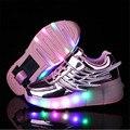 Sapatos De Rolo crianças asa menino menina sapatilha crianças Sapatos crianças sapatos de rolo com Rodas de luz LED