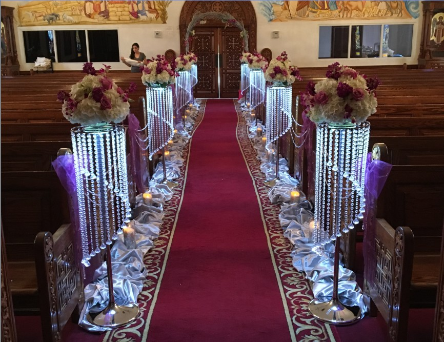 2017 luxury crystal wedding flower stand walkway wedding road lead table centerpieces event for Decoration cristal
