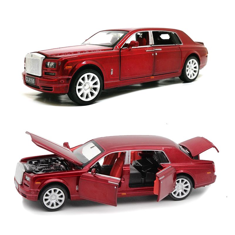 Diecasts & Toy Vehicles 6 Open Doors Luxury Cars 1/32 Collective Car W/Light& Music Not Big But xquisite
