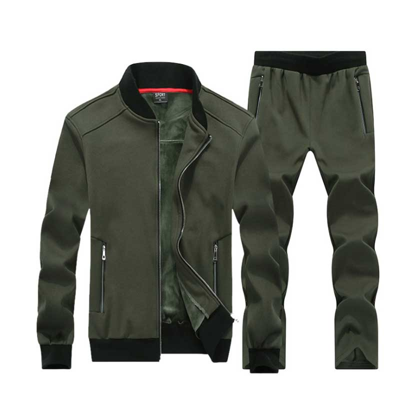 7XL 8XL Big Size Sporting Suits Men Sportswear Sets Jacket+Pants Large Size 7X 6XL 8XLMen Tracksuit Leisure Mens Sporting Set