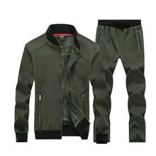 7XL 8XL Big Size Sporting Suits Men Sportswear Sets Jacket+Pants Large size 7X 6XL 8XLMen Tracksuit Leisure Mens Sporting set цена 2017