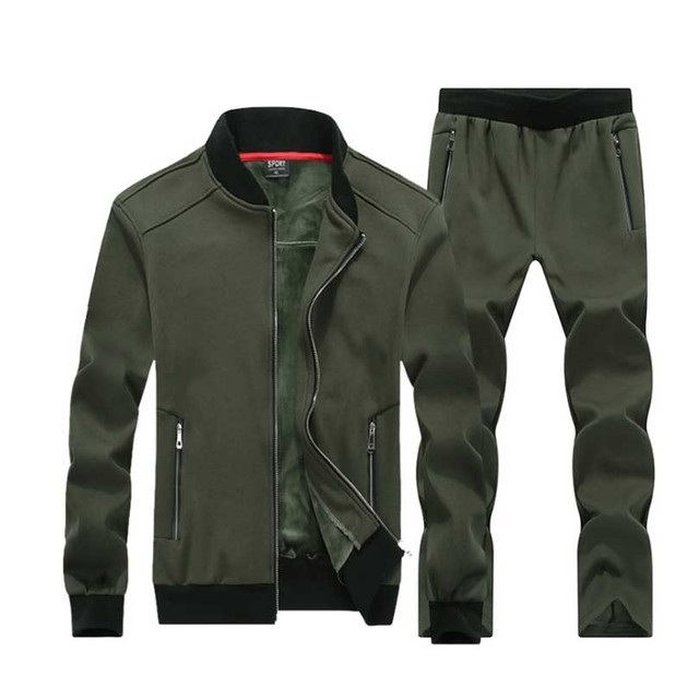 7XL 8XL Big Size Sporting Suits Men Sportswear Sets Jacket+Pants Large size 7X 6XL 8XLMen Tracksuit Leisure Mens Sporting set