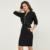 Hee grand 2017 primavera rendas mulher define casaco + saia floral com decote em v cintura elástica moda elegante 2 peça set mulheres wat727